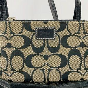 Coach Bags - Coach bundle Stripe tote, wallet and wristlet Tan